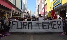 Movimentos sociais e sindicais protestam contra governo ilegítimo de Temer