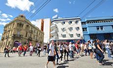 Ato em Sorocaba contra a terceirização e as reformas de Temer