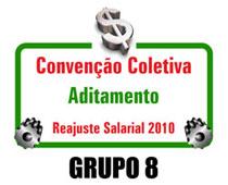 Reajuste salarial 2010 - Aditamento Grupo 8