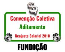 Reajuste salarial 2010 - Aditamento Fundição