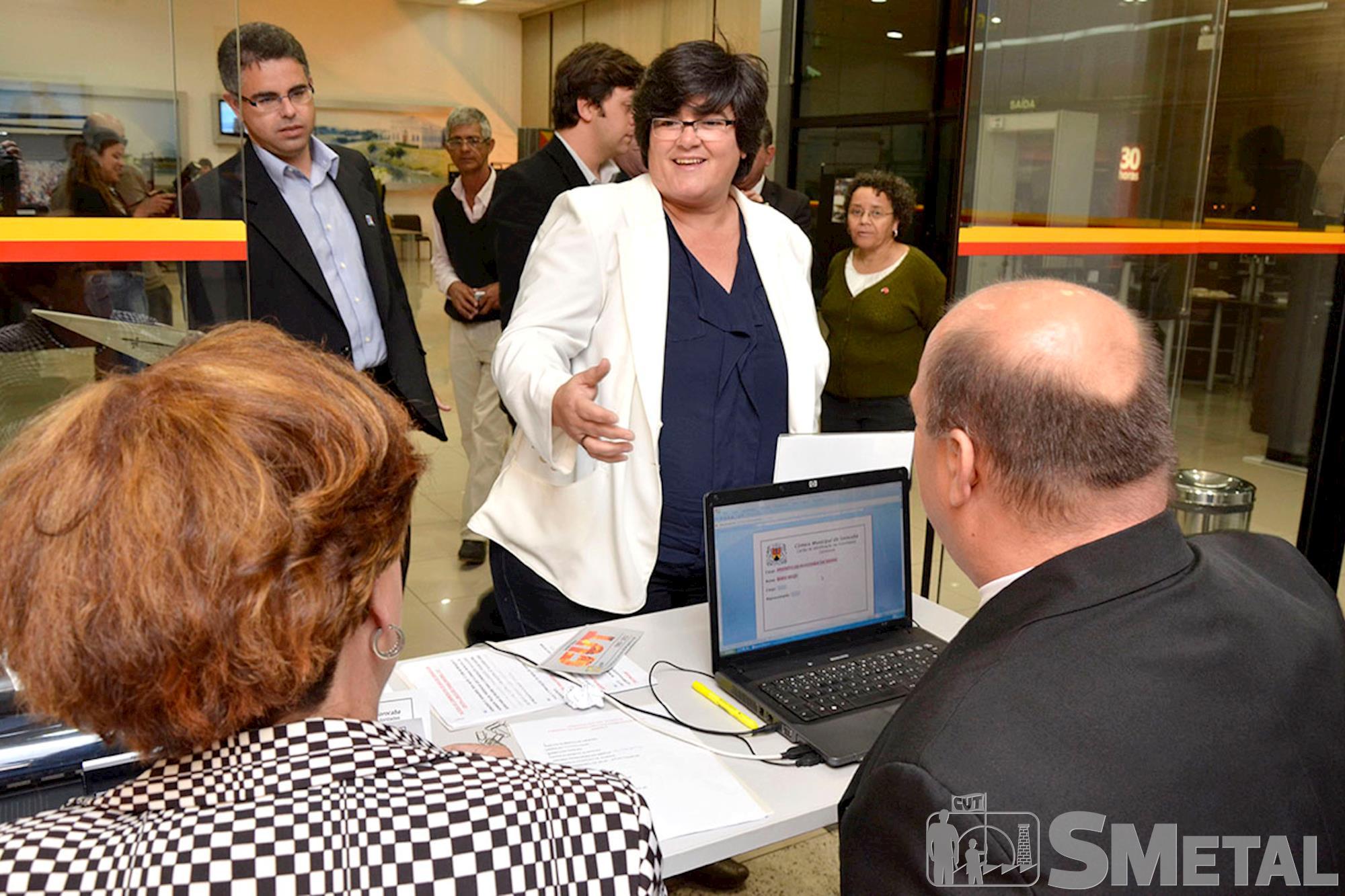 A prefeita de Araçoiaba da Serra,  Mara Melo,  prestigiou homenagem à CUT, Sessão Solene na Câmara de Sorocaba comemora 30 anos de CUT