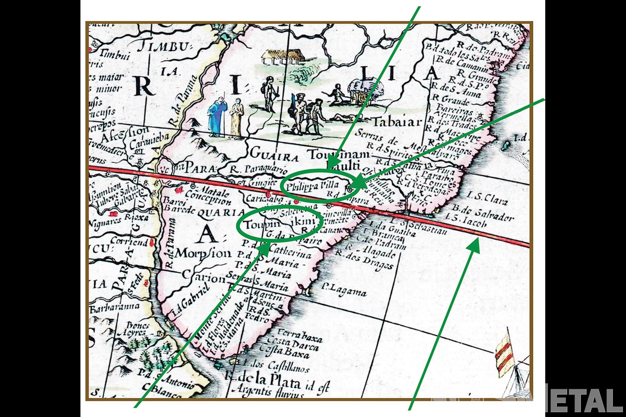 Mapa de 1640 do pesquisador holandês Blaeu traz referência ao Rio Sorocaba e à comunidade Tupiniquim, Indígenas: Resistência e preservação cultural