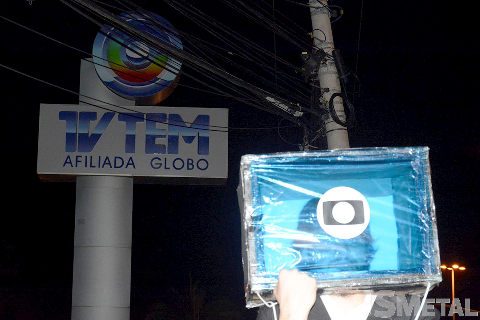 Movimentos realizam ato contra a Rede Globo