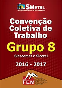 Convenção Coletiva 2016 - Siescomet/Sicetel