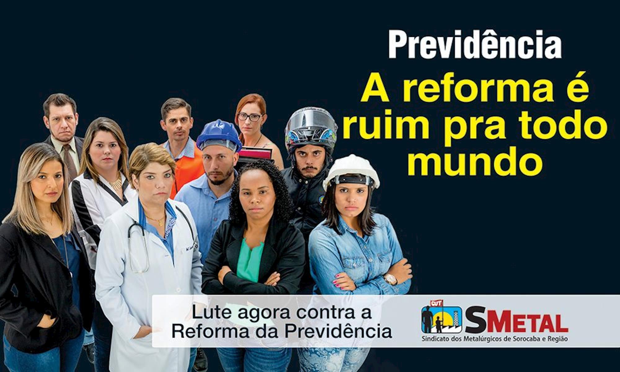reforma, previdência, smetal, sorocaba, campanha, Divulgação