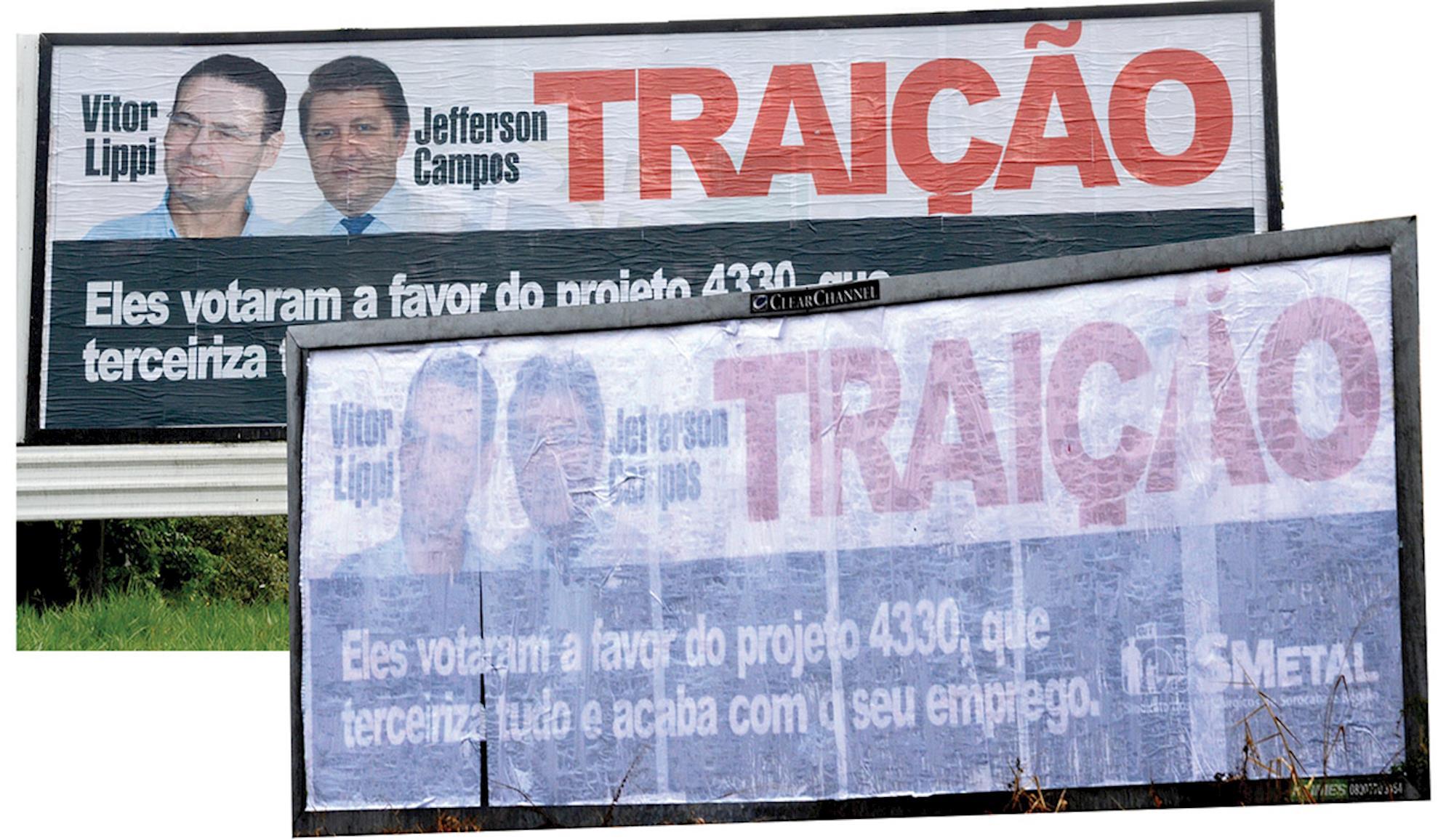 859, imprensa, outdoors, censurado, sindicato,, Foguinho/Imprensa SMetal