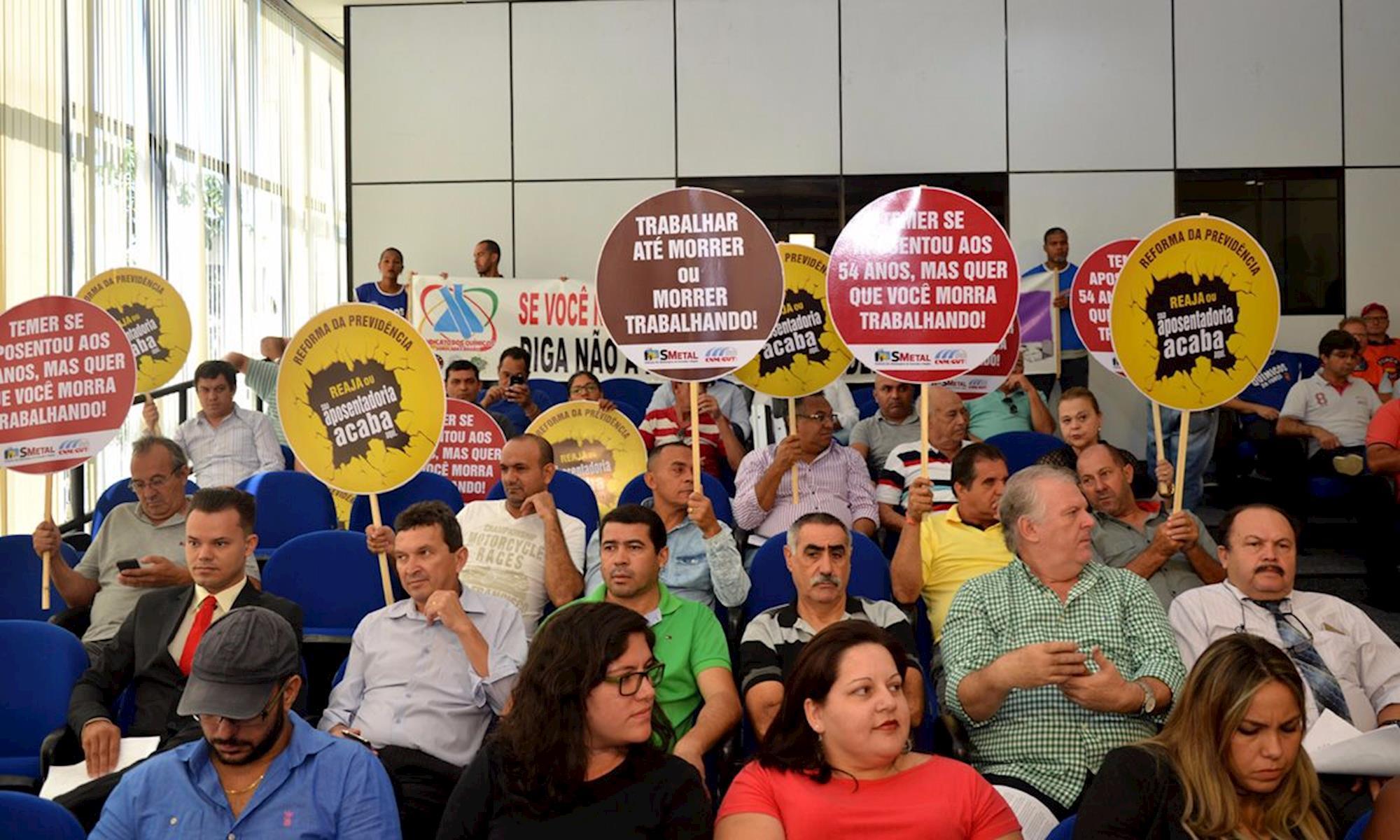 câmara, sindicalista, reforma, ato, repúdio, Vagner Santos/Imprensa SMetal