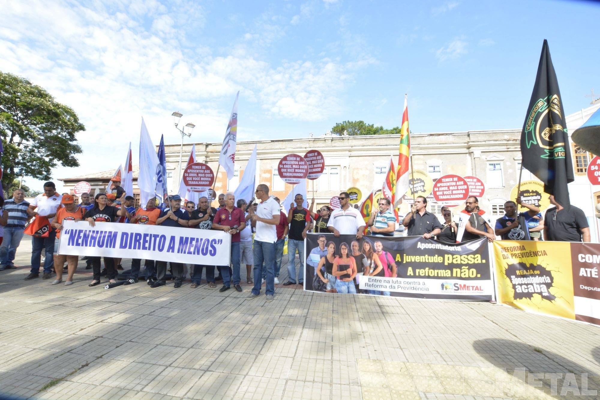 Foguinho / Imprensa SMetal, Ato contra reformas de Temer reúne sindicatos no centro