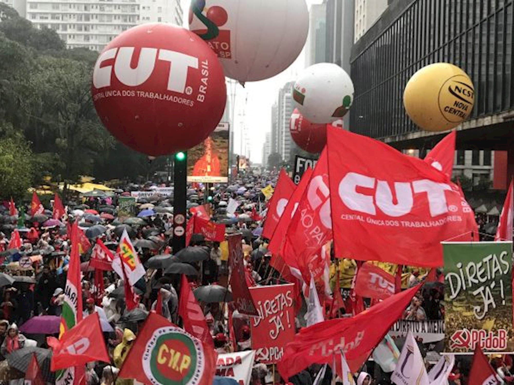 CUT, manifestações, paulista, fora temer, fora, temer, golpista, golpismo, diretas já, CUT/SP