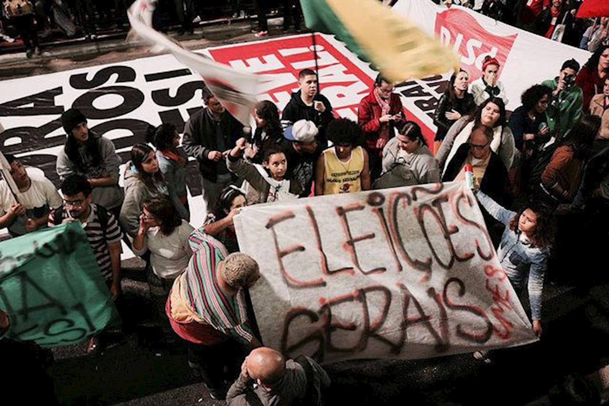 Brasil de Fato, protesto, diretas já, diretas, reformas, Reprodução Brasil de Fato