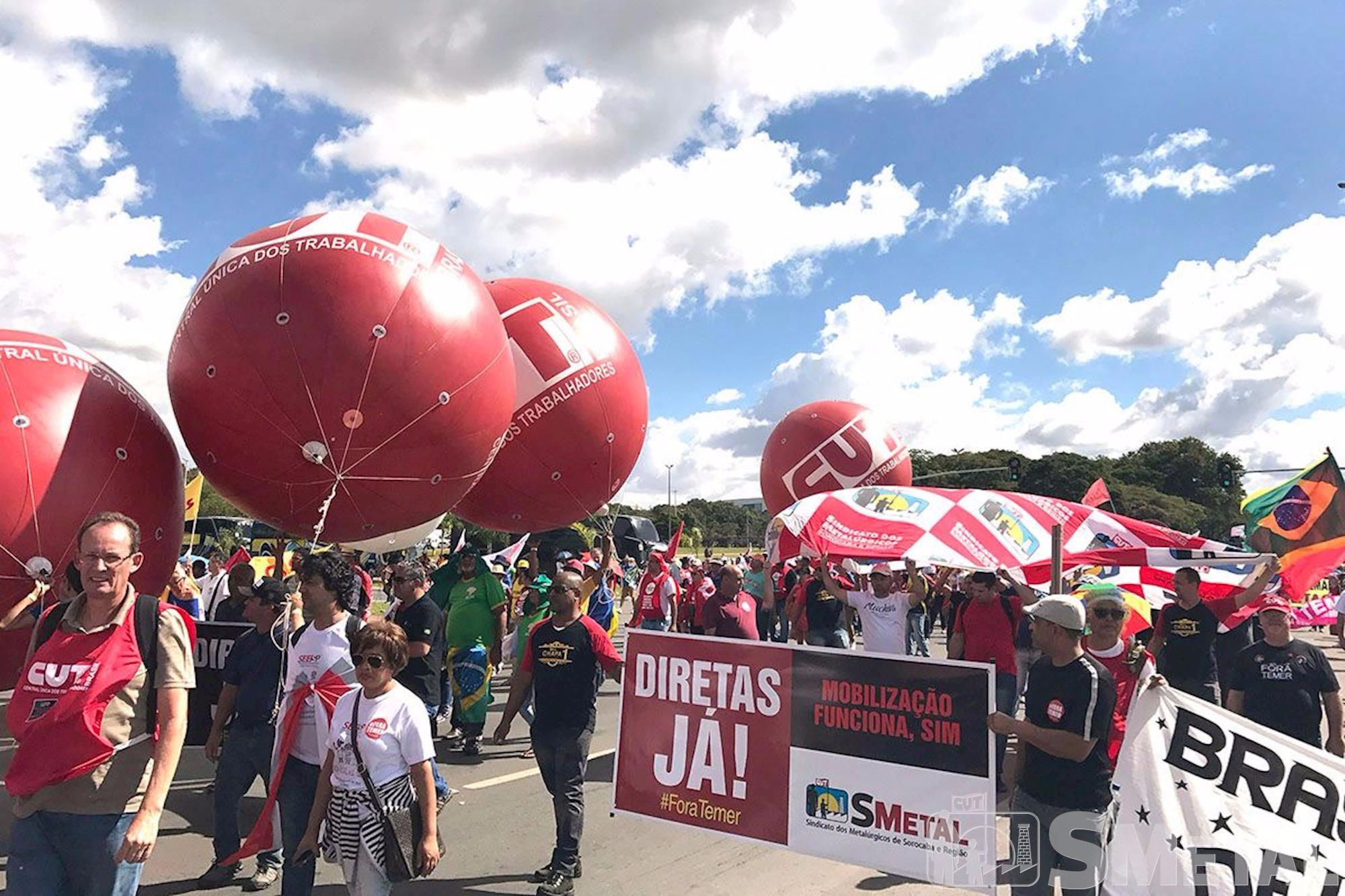 brasília, diretas já, fora temer, taxas sindicais, reformas, Imprensa SMetal