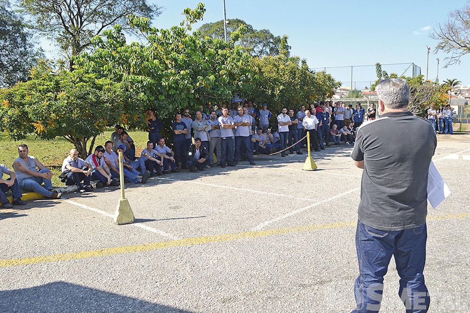 Metalac, campanha,  salarial,  assembleia, Foguinho e Paulo Rogério / Imprensa SMetal, Metalúrgicos se unem em defesa da Convenção