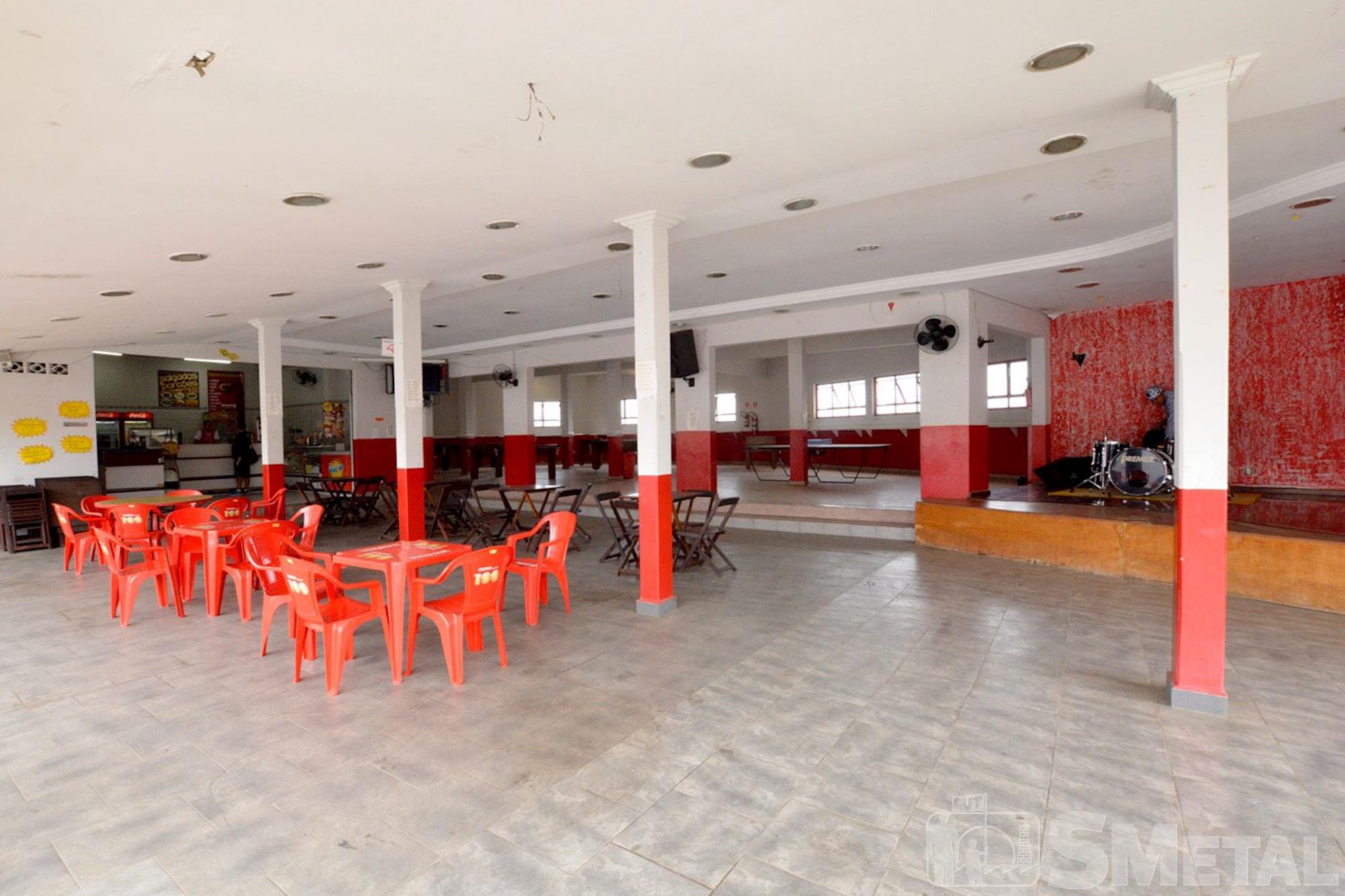 Lanchonete e salão de jogos, clube,  campo,  smetal, Foguinho/Imprensa SMetal