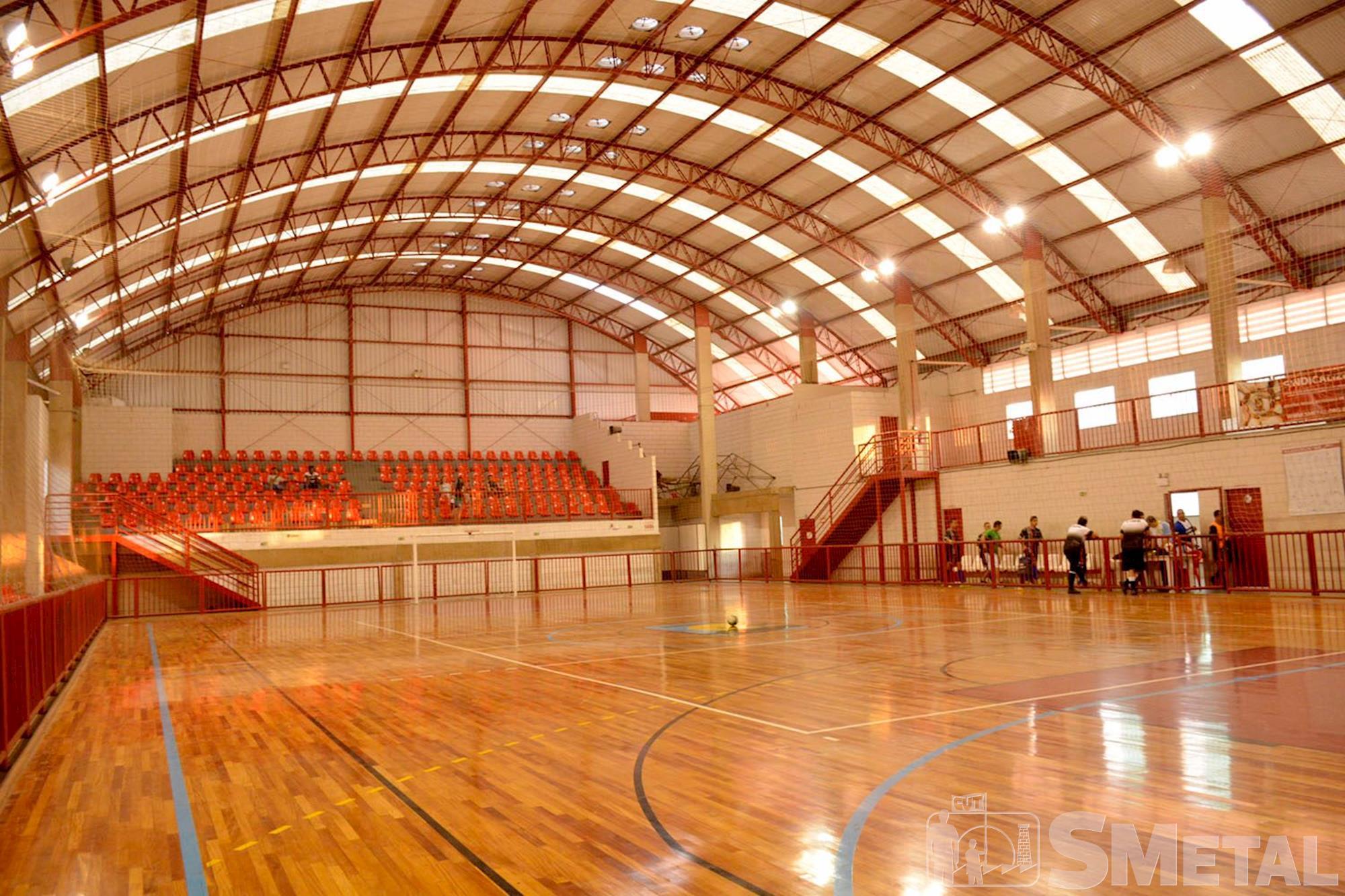 Ginásio poliesportivo, clube,  campo,  smetal, Foguinho/Imprensa SMetal