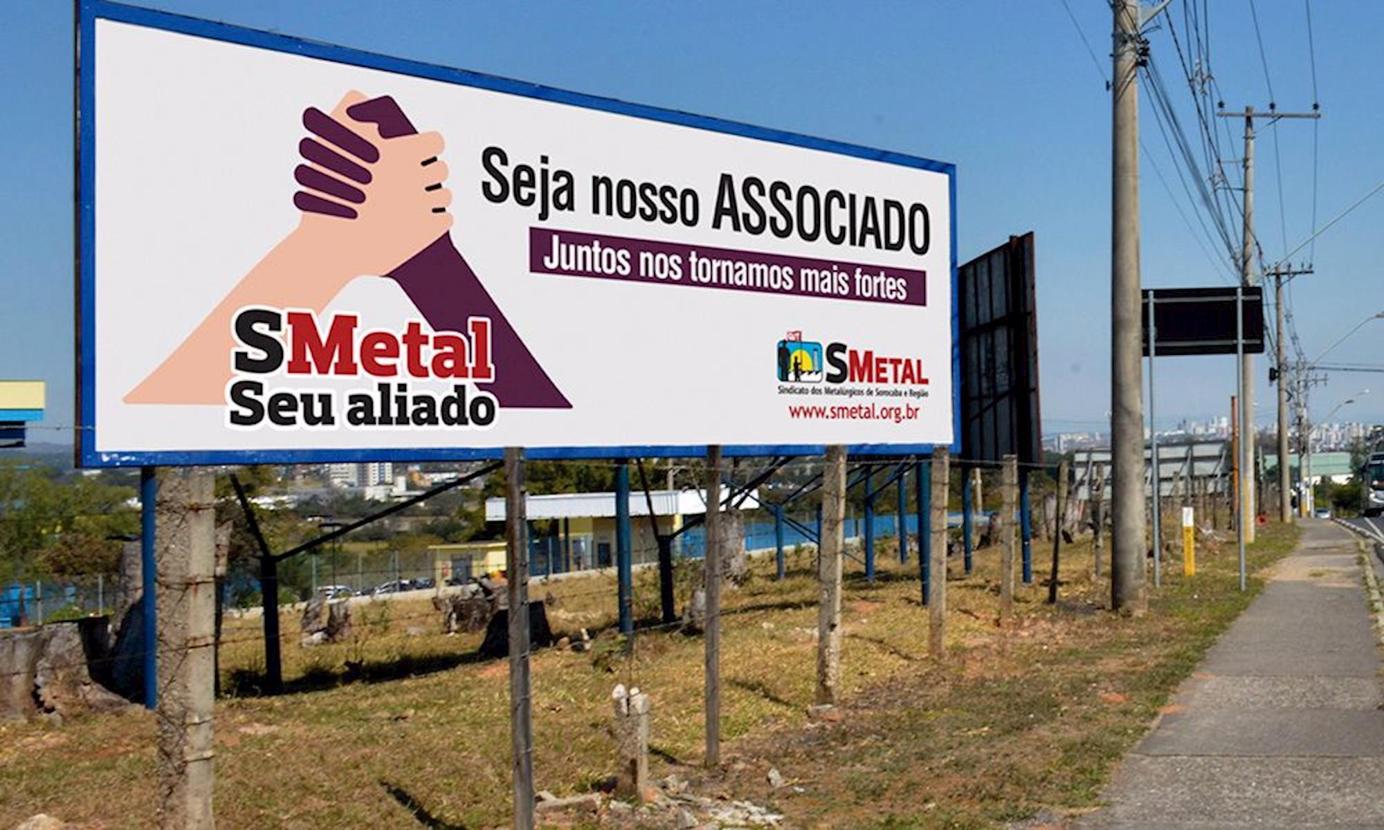 campanha, outdoor, Foguinho/Imprensa SMetal