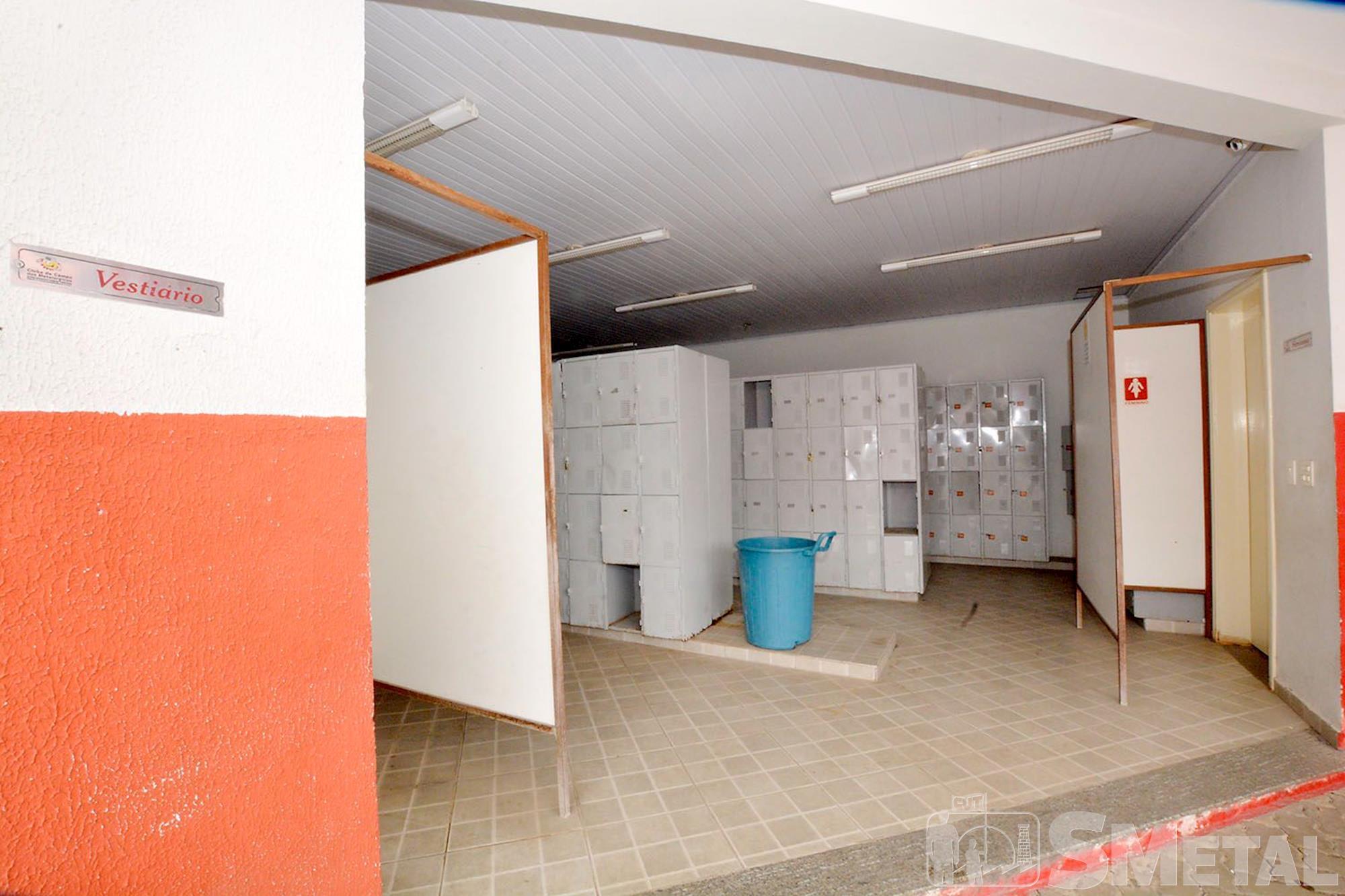 Há também vestiários para maior comodidade dos associados., Foguinho/Imprensa SMetal
