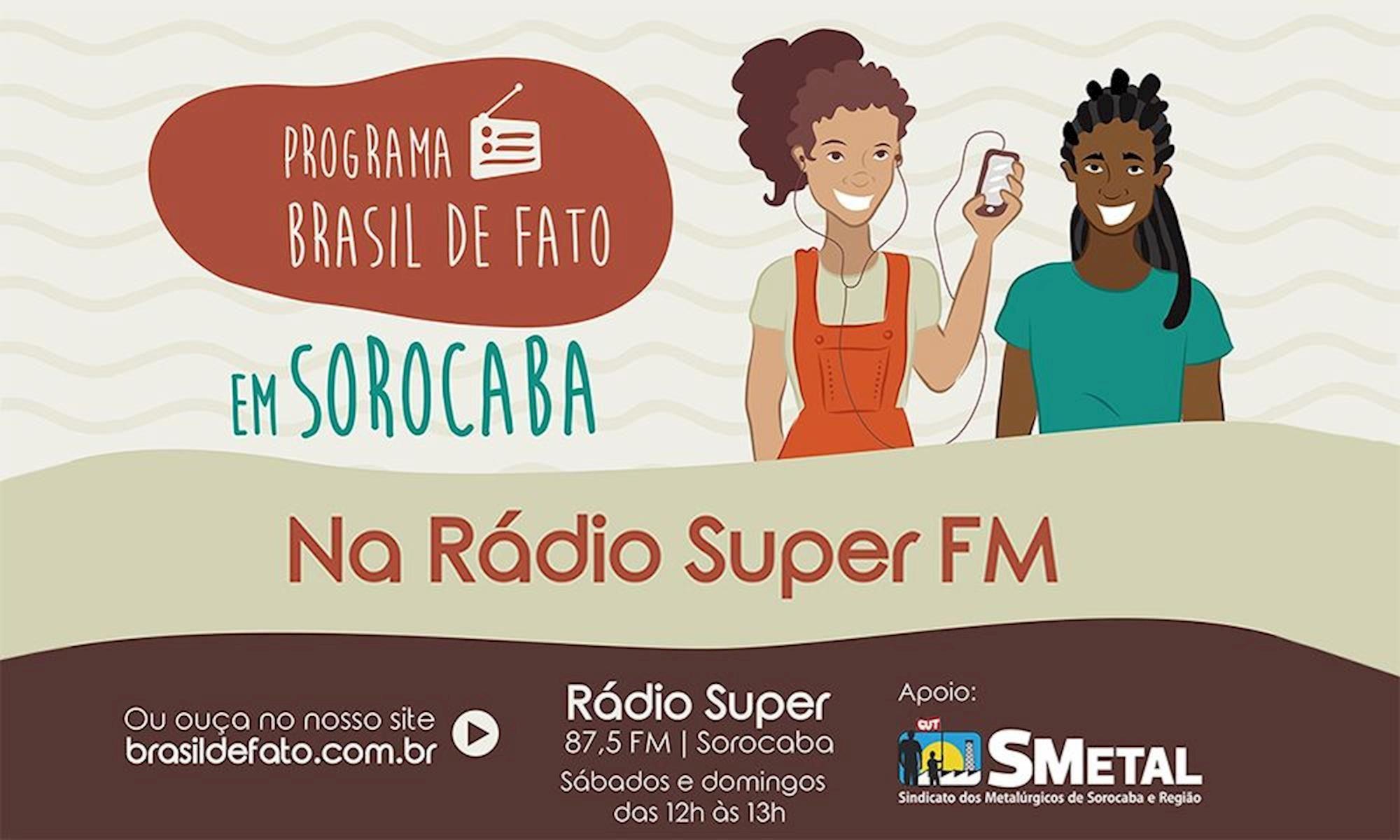 brasil, de fato, radio, super, fm, Divulgação