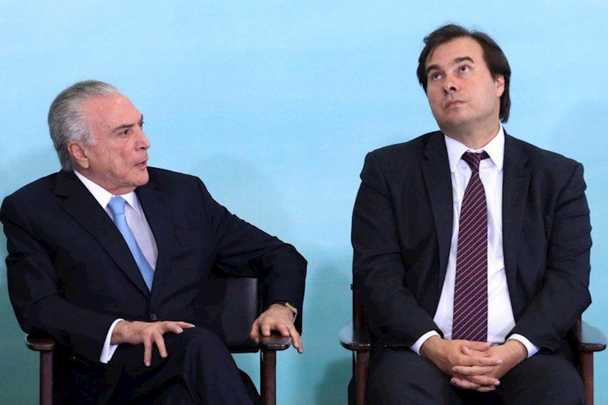 temer, maia, Givaldo Barbosa / Agência O Globo