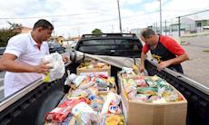 Mutirão no Parque São Bento arrecada 750 kg de alimentos