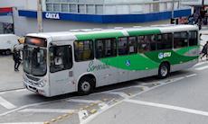 Motoristas de ônibus participam de greve contra a Reforma da Previdência