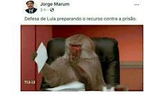 Promotor ofende defesa de Lula com foto de macaco e é criticado pela OAB
