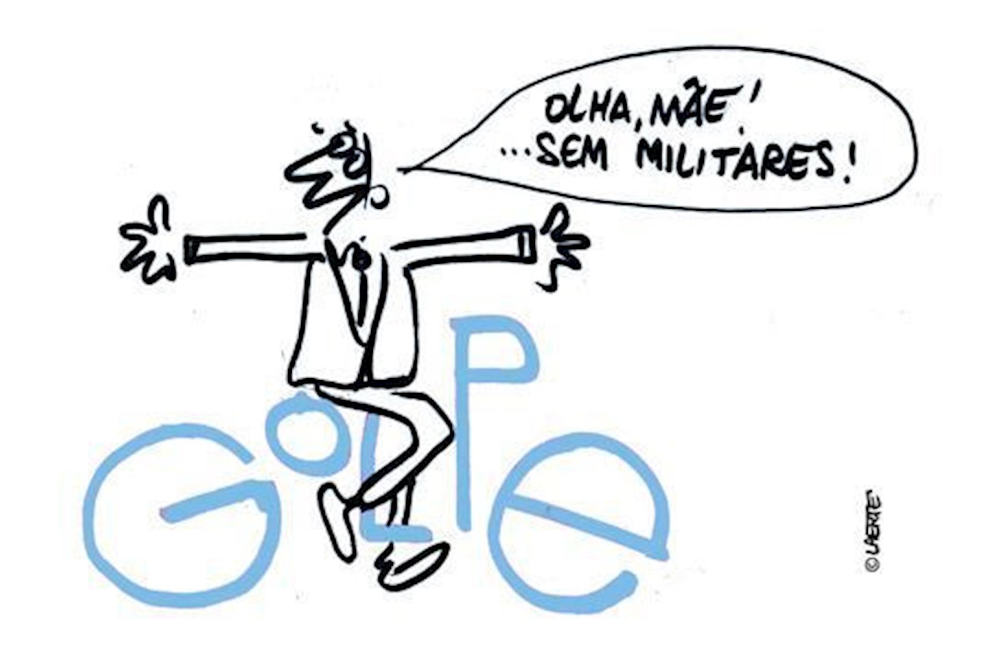 democracia, militares, editorial, 898, Laerte