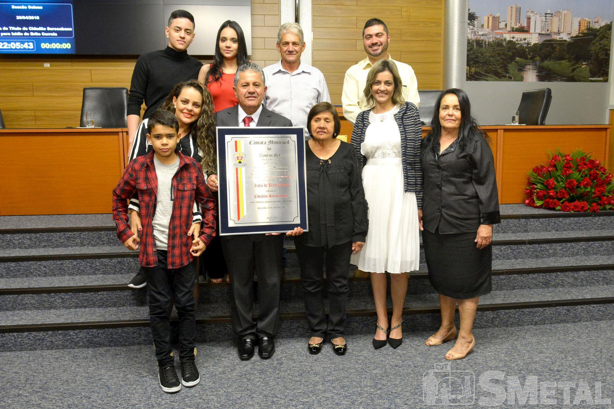 izidio,  título,  sorocabano, Foguinho/Imprensa SMetal, Izídio é homenageado com título de cidadão sorocabano