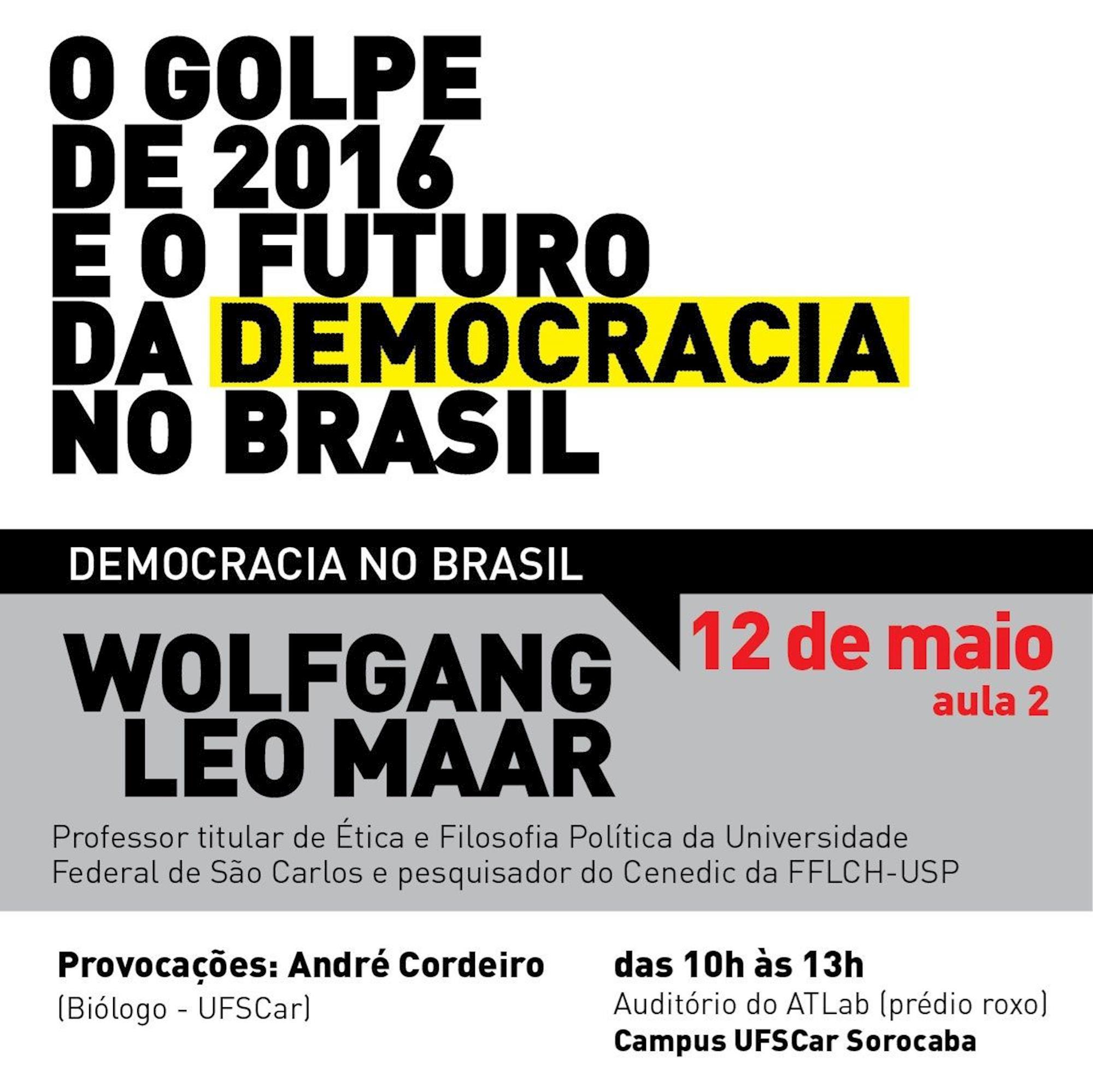 ufscar, debate, Divulgação