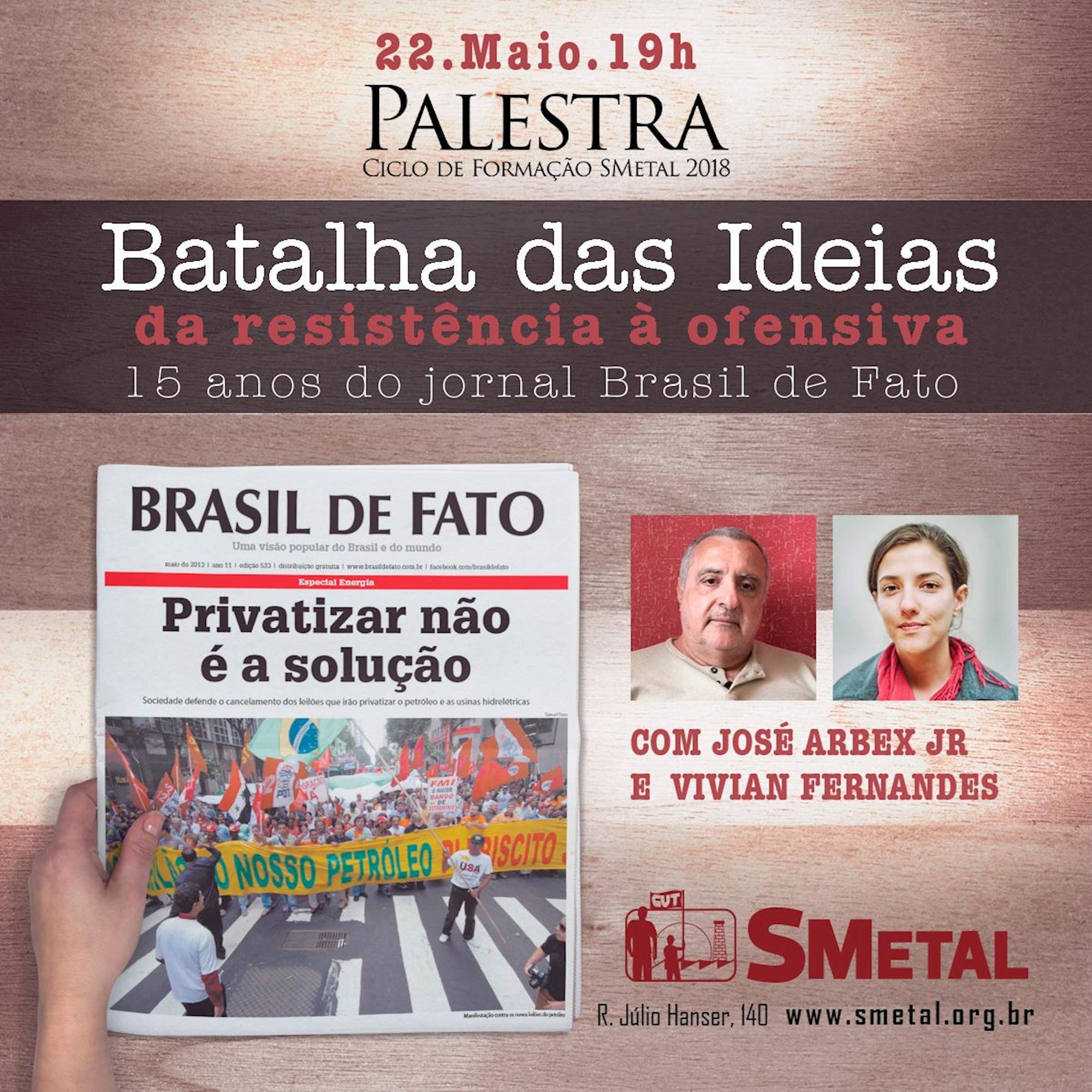 batalha, palestra, brasil de fato, Arte: Lucas Delgado