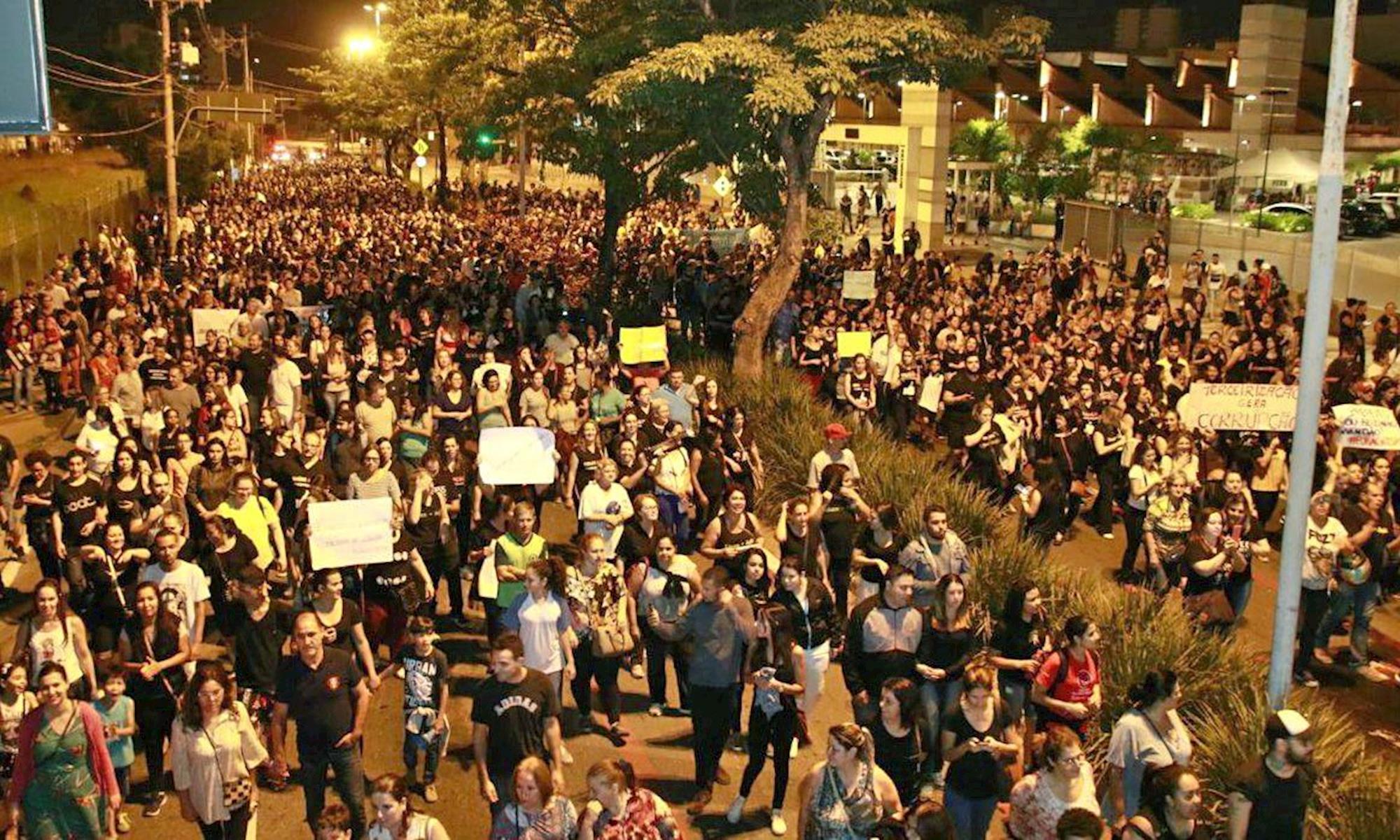 protesto, terceirização,, Divulgação SSPMS
