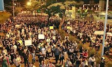 Sorocabanos protestam contra a terceirização do serviço público