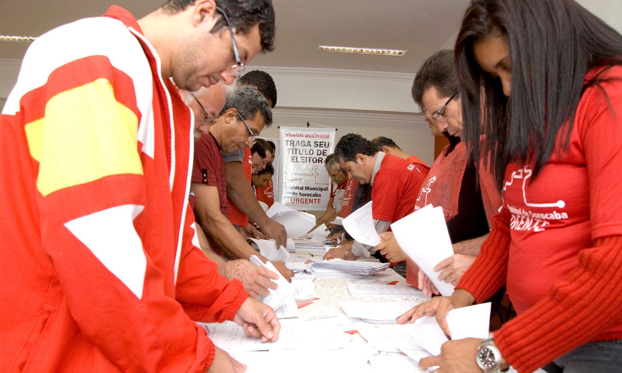 assinatura,, coleta, hospital, Arquivo: Foguinho/Imprensa SMetal