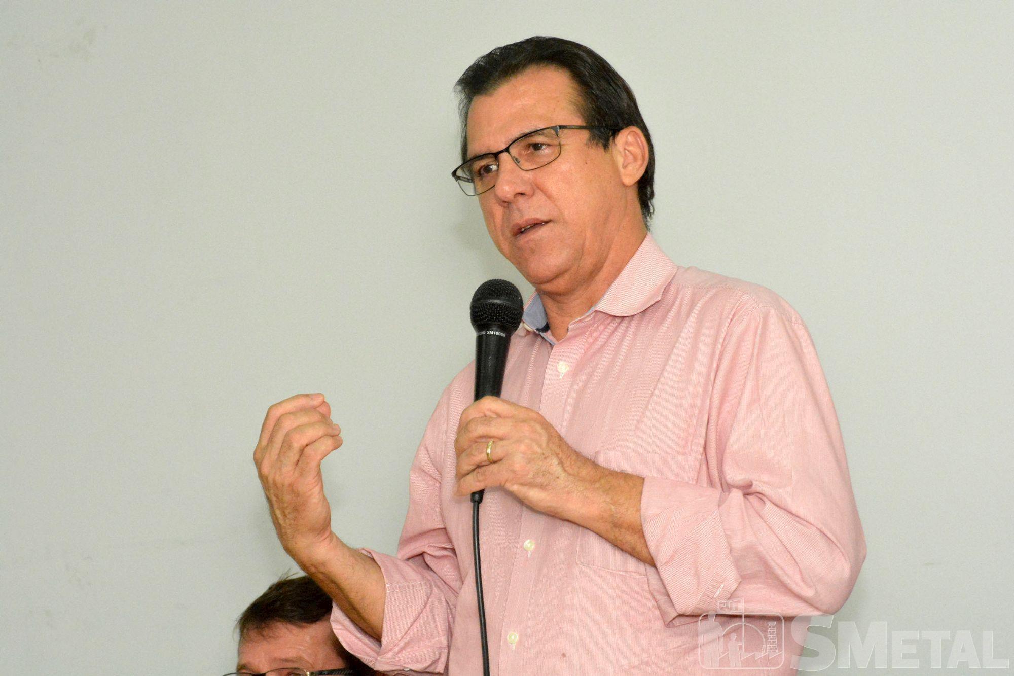 conjuntura,  mauro,  gilmar,  marinho,  pt,  smetal, Foguinho/Imprensa SMetal, Gilmar Mauro e Luiz Marinho reforçam a luta pela democracia no SMetal