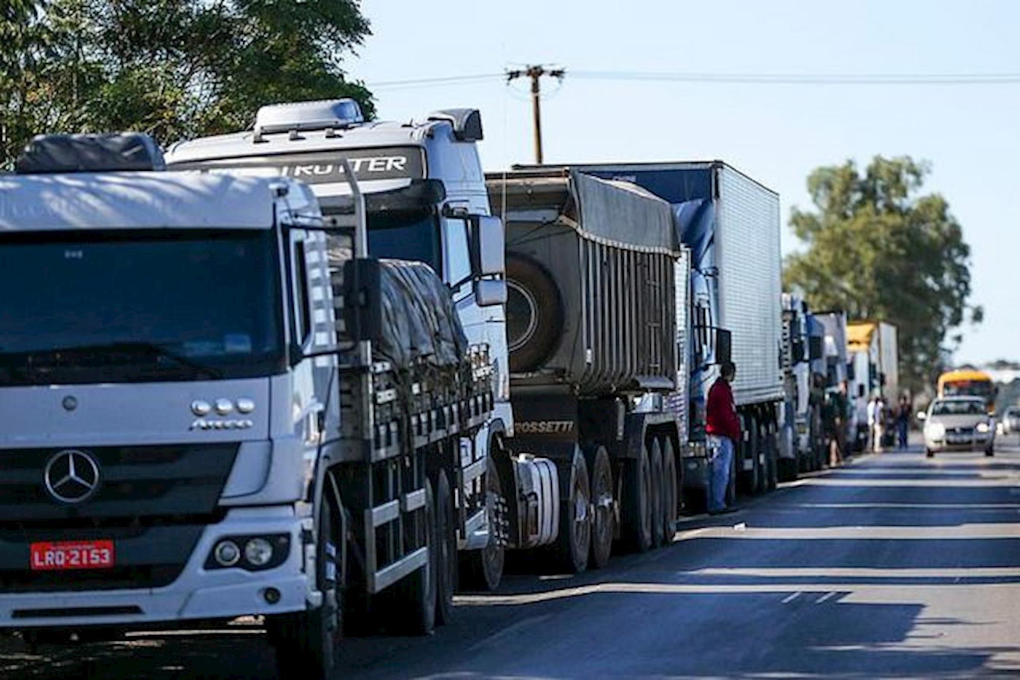 caminhão, protesto, gasolina,, Marcelo Camargo/Agência Brasil