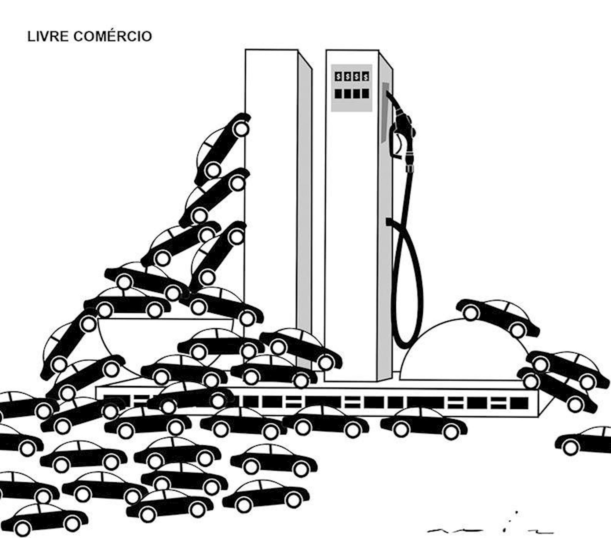 Livre, Comércio, gasolina, Ilustração