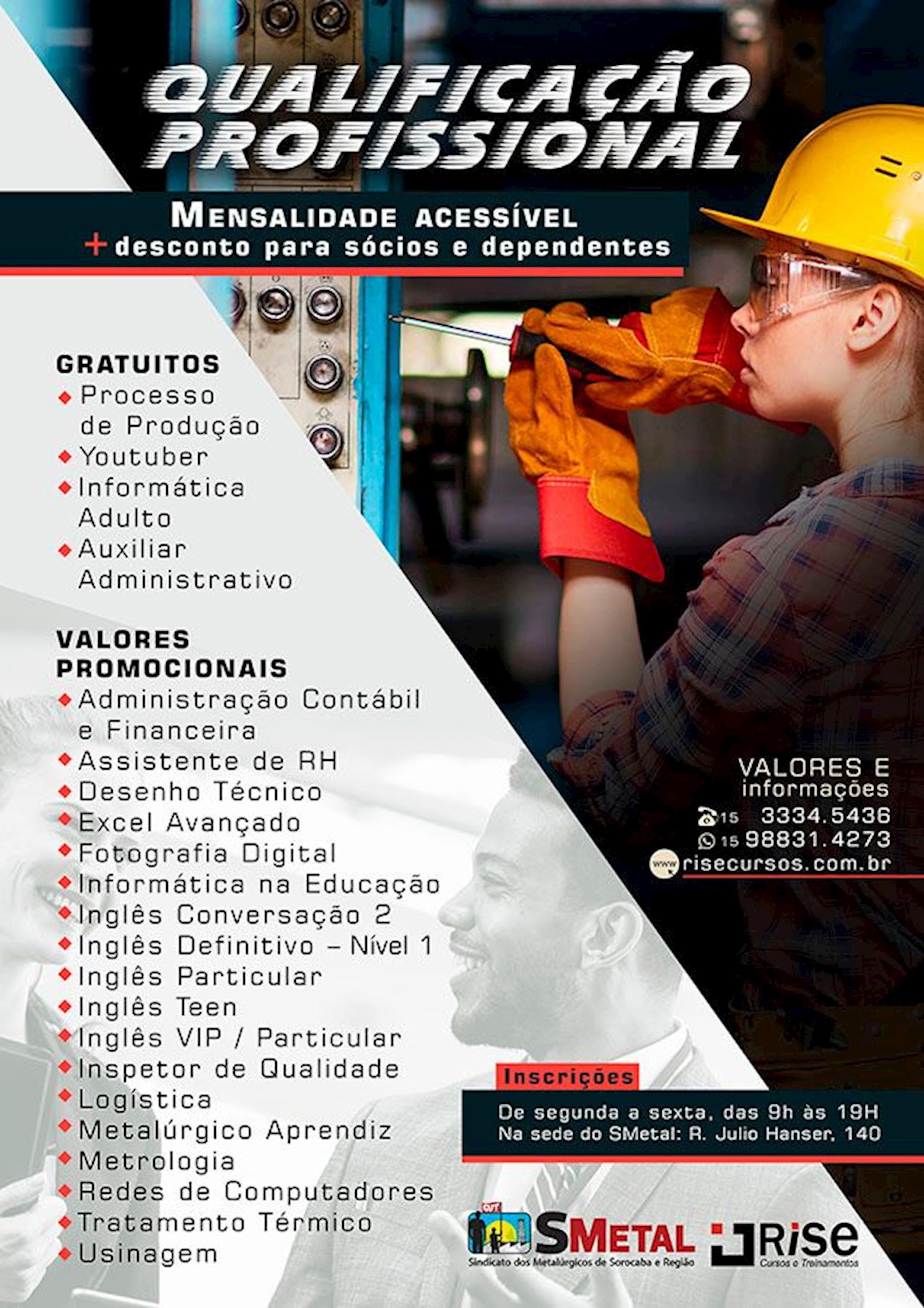 curso, qualificação, rise, Arte: Lucas Delgado