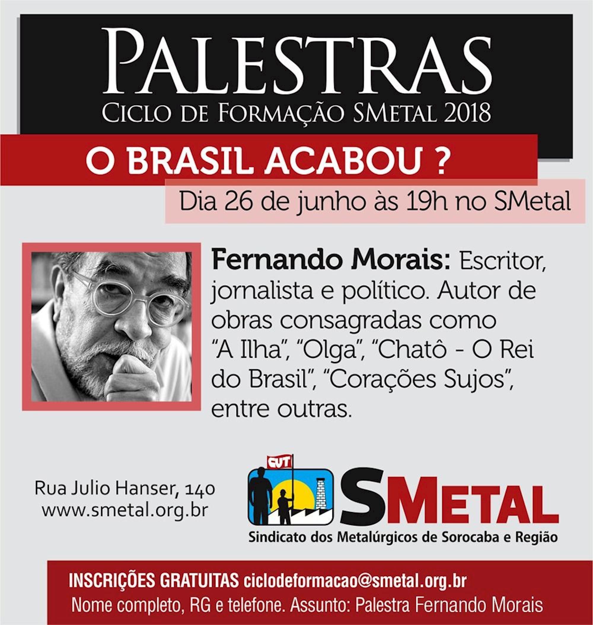 fernando, morais,, Arte: Cassio Freire/Imprensa SMetal