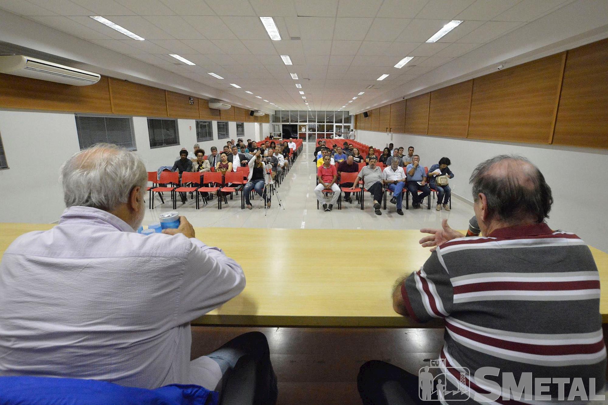 formação,  futebol,  smetal,  palestra, Foguinho/Imprensa SMetal, Palestra