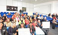 Protesto na Câmara reforça a luta contra a violência sofrida por mulheres