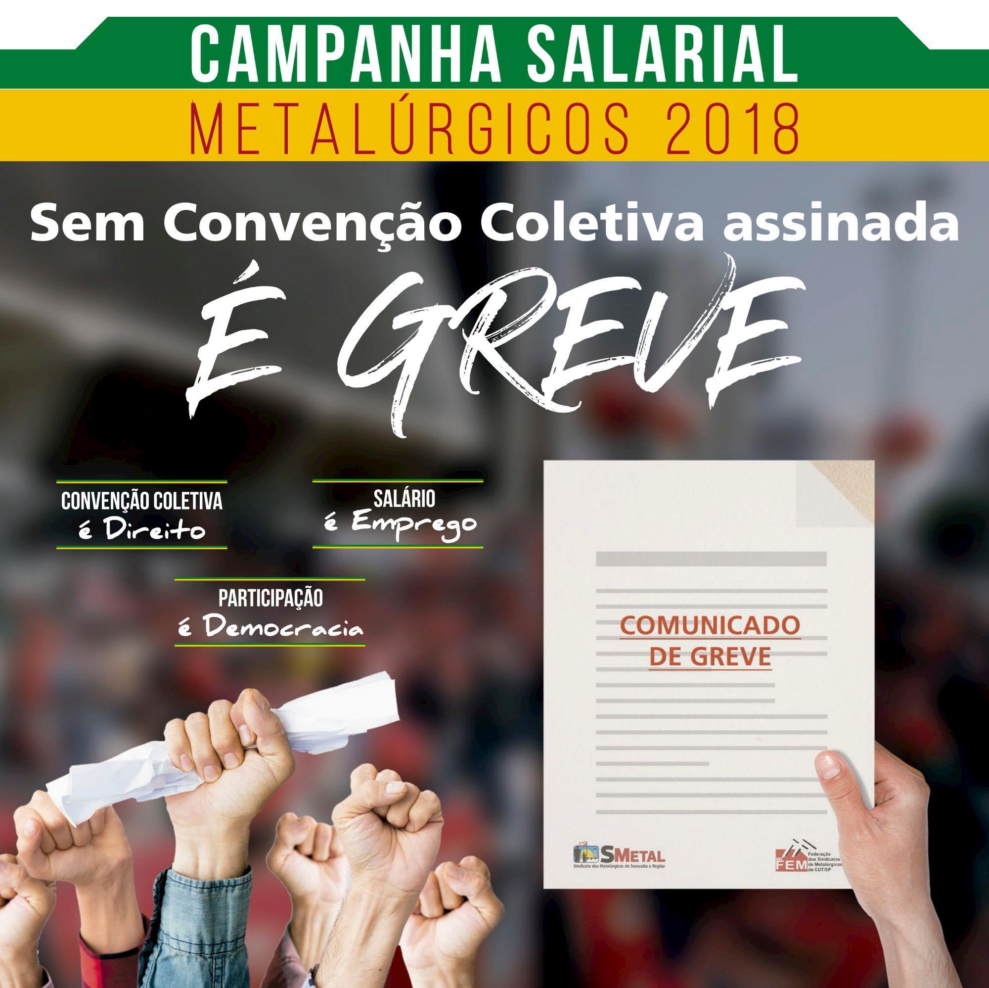 greve, campanha, salarial, Arte: Lucas Delgado