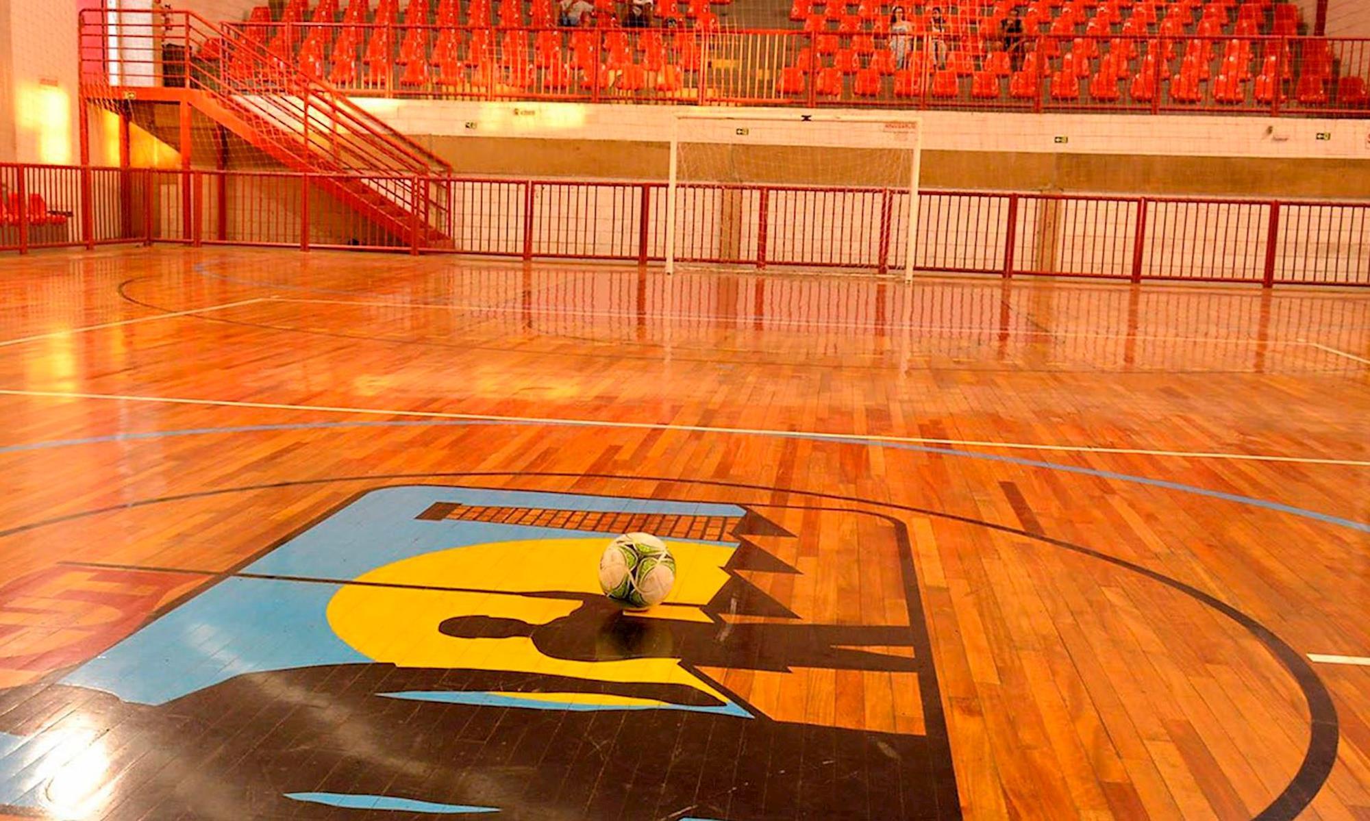 ginásio, clube, futsal,, Arquivo/Foguinho Imprensa SMetal