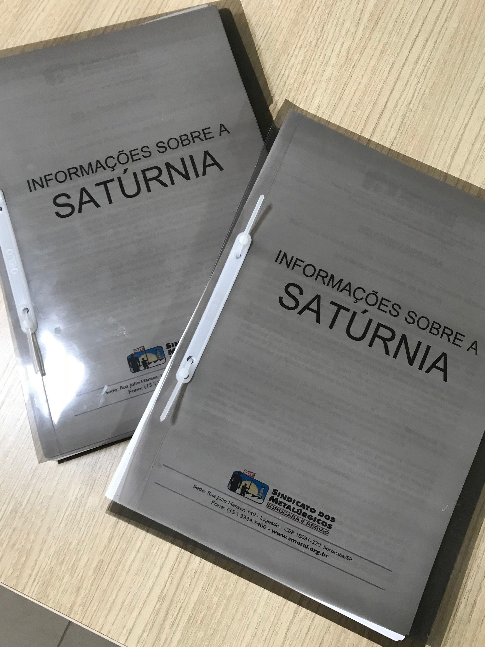 saturnia, relatório, sindicato,, Daniela Gaspari/Imprensa SMetal