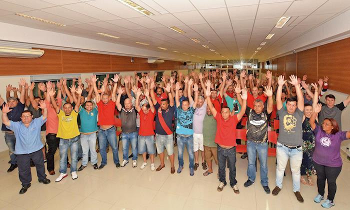 Trabalhadores aprovam reajuste de 5% e garantem a Convenção Coletiva
