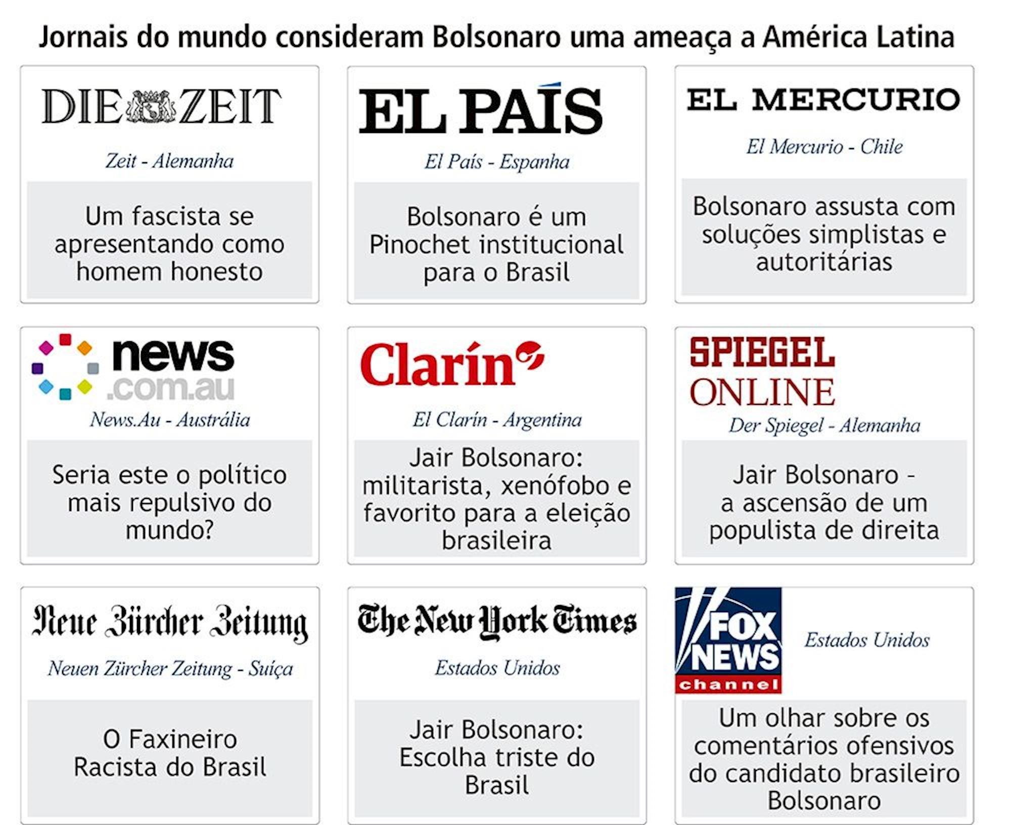 jornais, brasil, bolsonaro,, Divulgação