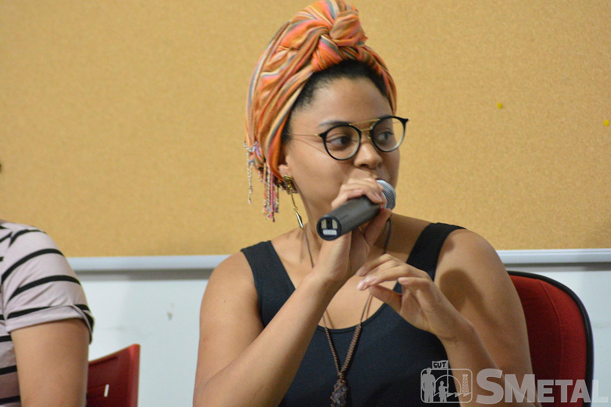 Debate: Feminismo negro - trajetórias acadêmicas de mulheres negras , feminismo,  negro,  sindicato,  mulheres,  luta,  negra, Foguinho/Imprensa SMetal, O protagonismo das mulheres negras foi tema do evento deste mês