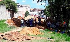 Trabalhador do Saae está soterrado devido a acidente na zona norte