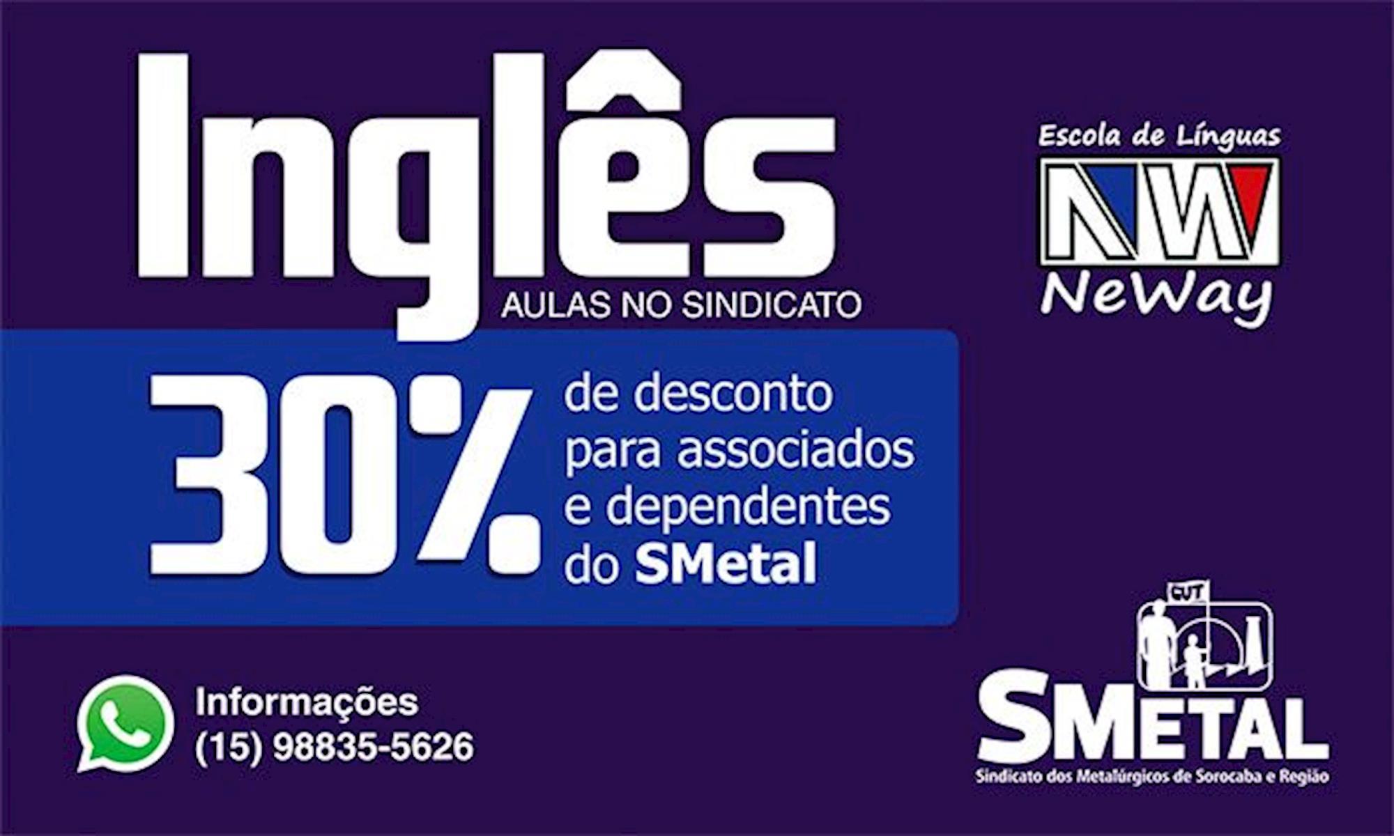 ingles, curso, smetal, neway,, Divulgação