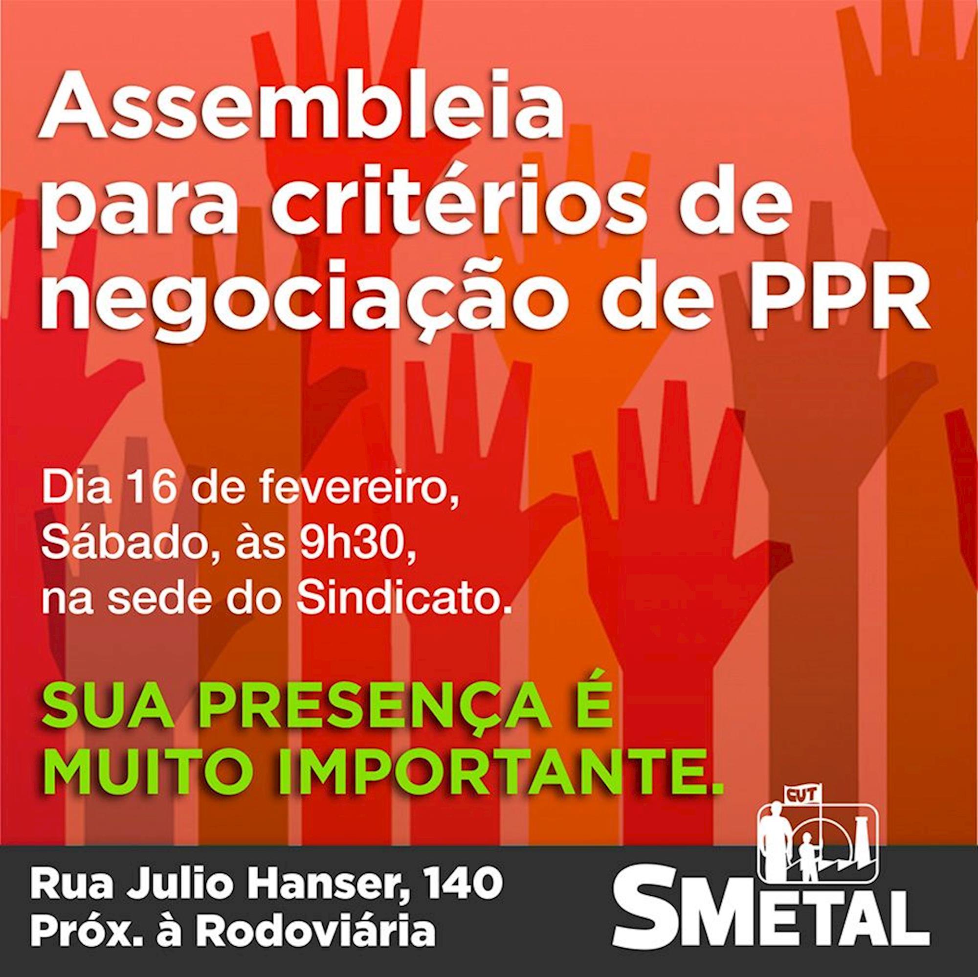 ppr, assembleia, plr, smetal, Arte: Cássio Freire