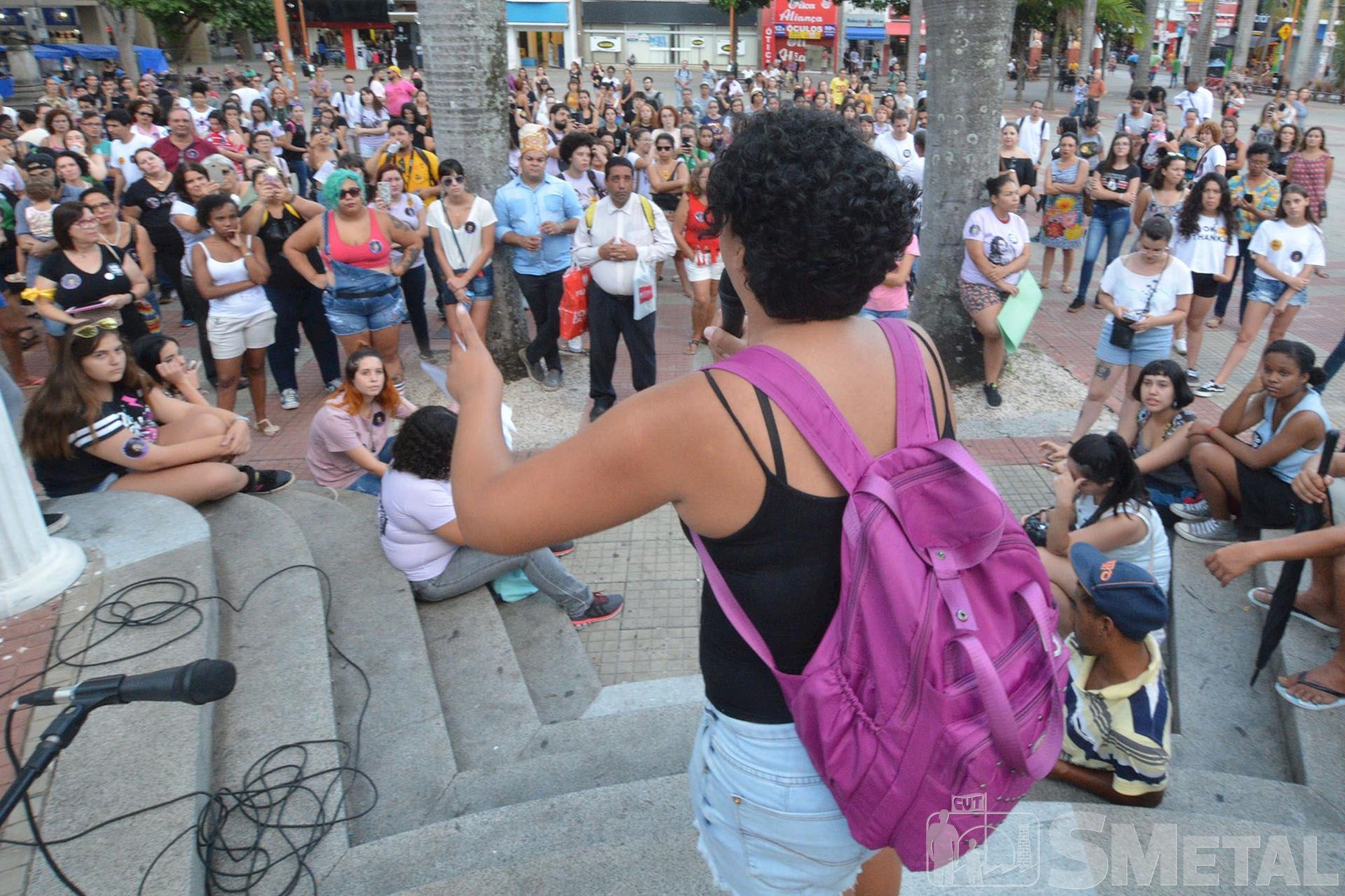 Marcha contra a violência e o machismo em Sorocaba, mulher,  dia,  internacional,  marcha,  sorocaba,  violência,  machismo, Foguinho/Imprensa SMetal, FOTOS: Mulheres de Sorocaba marcham contra a violência e o machismo