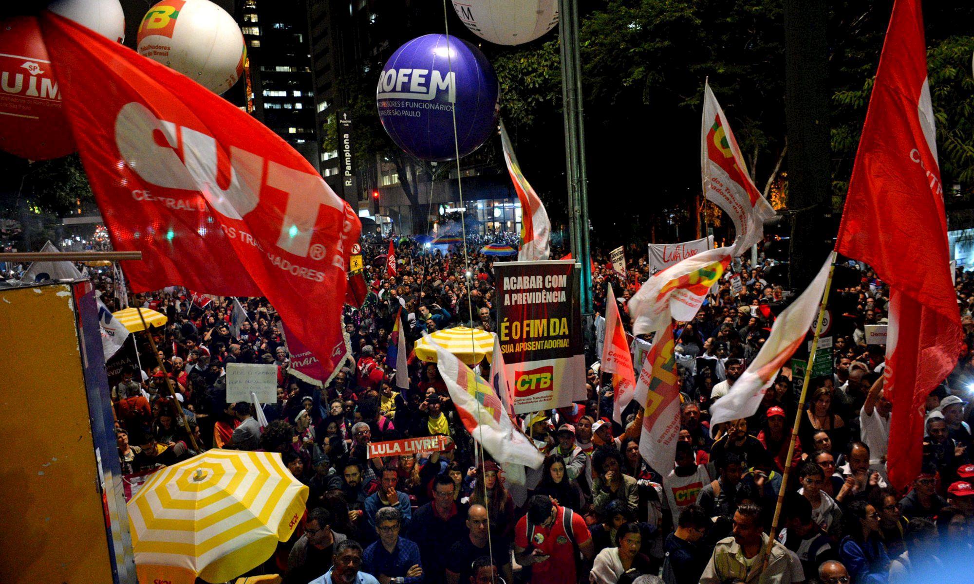 previdência, reforma, paulista, aposentadoria, manifestação, Foguinho/Imprensa SMetal